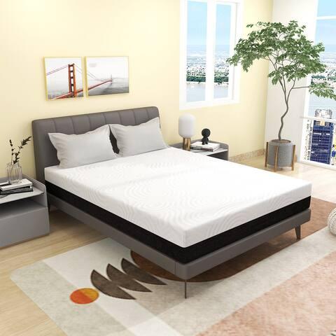 10 Inch Memory Foam Mattress, Cooling Gel Foam Cool Sleep & Pressure Relief And Medium-Firm Mattress, CertiPUR-US Certified