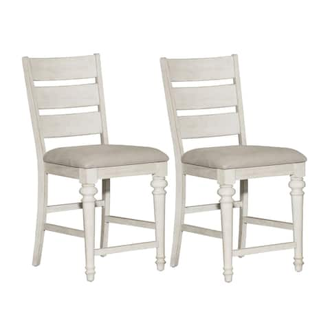 Heartland Antique White Counter Height Barstools (Set of 2)