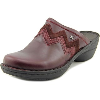 Josef Seibel Jennifer 01 Women Round Toe Leather Burgundy Mules