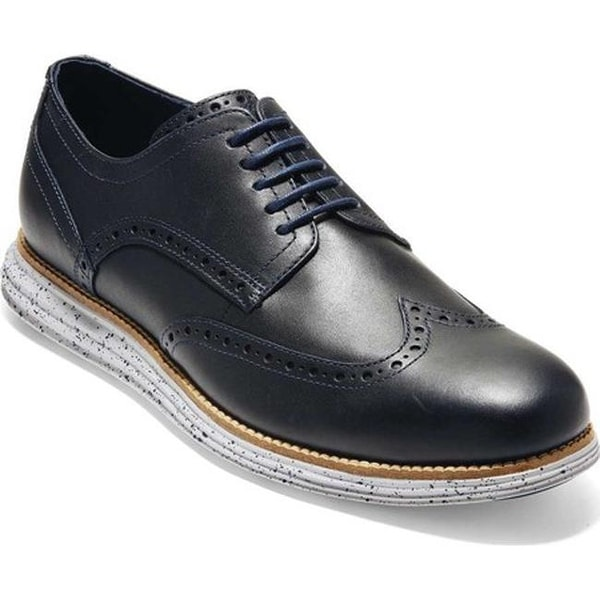8a91d32812322 Cole Haan Men  x27 s Original Grand Shortwing Wingtip Derby Peacoat Vapor  Leather