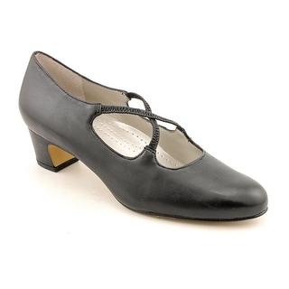 Trotters Jamie Women N/S Round Toe Leather Black Heels