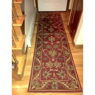 Safavieh Handmade Heirloom Red Wool Runner (2'3 x 8')