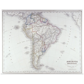 """Map of South America"" Poster Print"