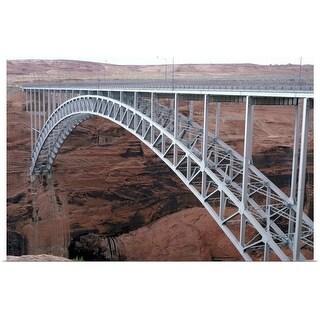 """Bridge over canyon in Arizona"" Poster Print"