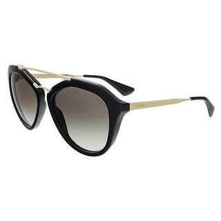 Prada PR012QS 1AB0A7 Black Aviator Sunglasses
