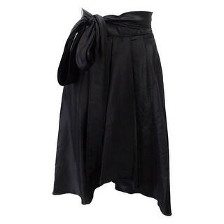 R&M Richards Women's High Low A-line Skirt - Black