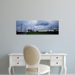 Easy Art Prints Panoramic Images's 'Storm clouds over a landscape, Illinois, USA' Premium Canvas Art
