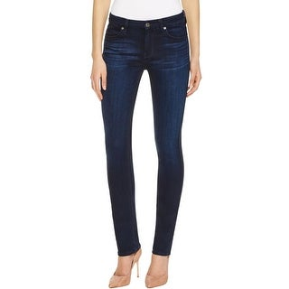7 For All Mankind Womens Straight Leg Jeans Denim Stretch