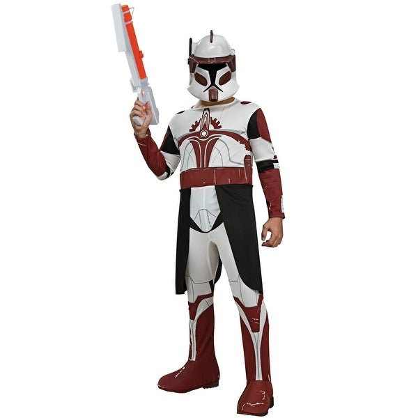 Rubies Star Wars Clone Wars Clone Trooper Commander Fox Child Costume    White