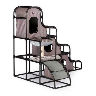 Prevue Pet CATVILLE Tower- Gray Print - 7240