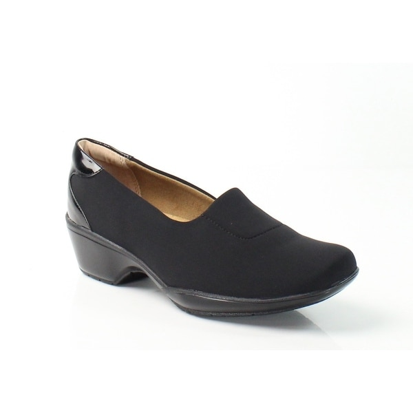 Softspots NEW Black Women's Shoes Size 6W Marnie Lycra Loafers