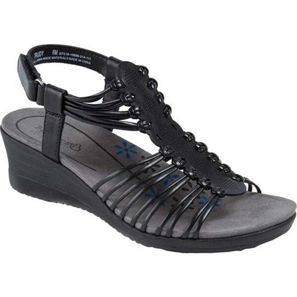 Shop Bare Traps Women S Trudy Wedge Sandal Black