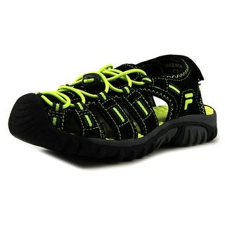 Fila Gripper 4 Youth Round Toe Synthetic Black Sport Sandal