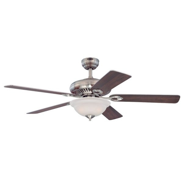 """Westinghouse 7840000 Fairview 52"""" 5 Blade Hanging Indoor Ceiling Fan with Reversible Motor, Blades, Light Kit, Remote, and Down"""