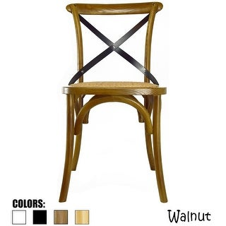2xhome - Antique Style Cross back Wooden Frame Dining Chair
