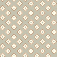 York Wallcoverings GE3616 Ashford Geometrics Moroccan Spot Wallpaper - light grey/cream/orange - N/A