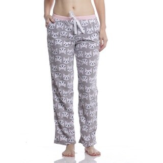 Rene Rofe Women's Cat Microfleece Pajama Pants With Pockets