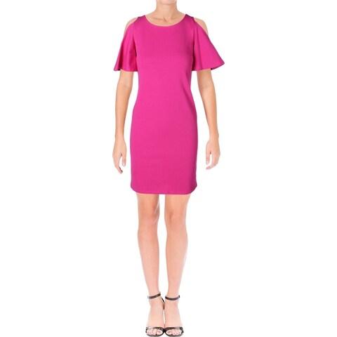 Lauren Ralph Lauren Womens Fatiosa Casual Dress Ponte Cold Shoulder