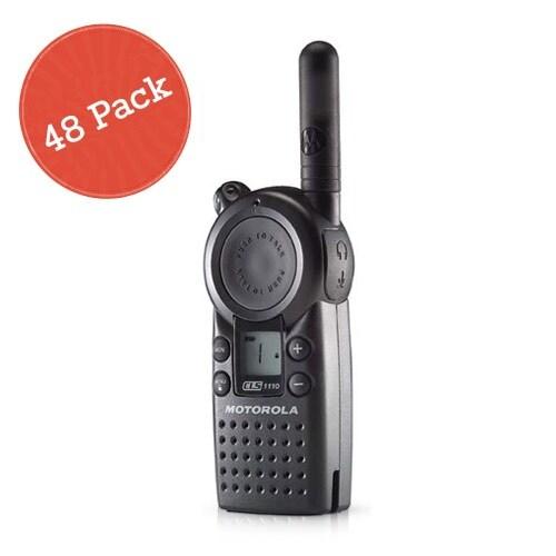 """Motorola CLS1110 48 Pack Professional 2-Way Radio / 2 Mile Range"""