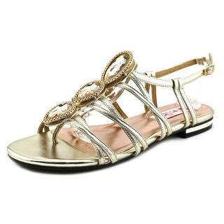 Two Lips Reach Women Open-Toe Synthetic Gold Slingback Sandal