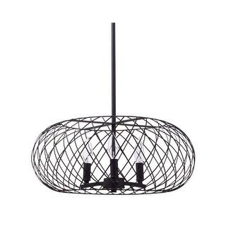 Miseno MLIT145041 3-Light Full-Sized Cage Style Pendant - Olde Bronze - n/a
