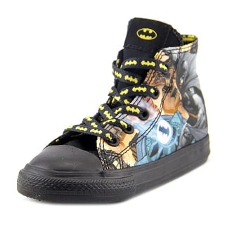 DC Comics CT Hi Toddler  Round Toe Canvas Black Sneakers