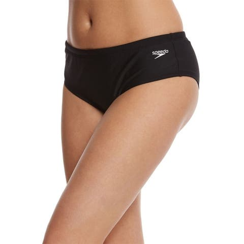Speedo Women's Endurance Lite Solid Fitness Boy Short, Speedo Black, SZ 14
