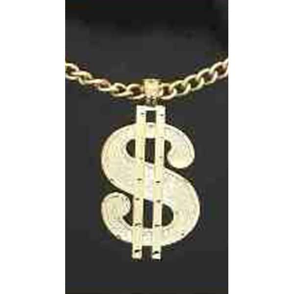 ca296a7d7d Pimp Bling Dollar Sign Necklace, Rapper Necklace - As Shown - One Size Fits  Most
