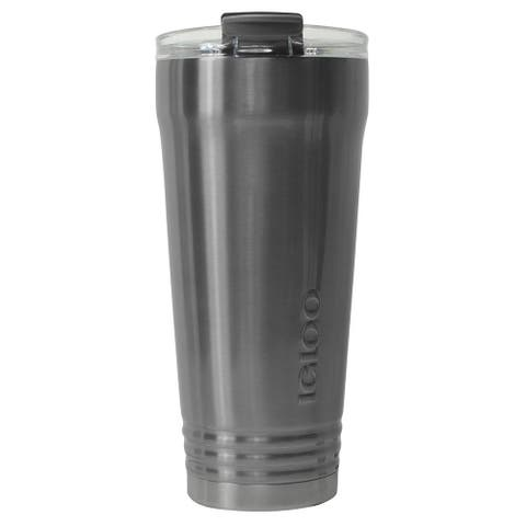 Igloo 70100 Logan Stainless Steel Insulated Tumbler, Steel & Clear, 30 Oz