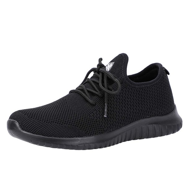 Lyncxx Women's Athletic Walking Shoes Casual Knit Comfortable Fashion  Sneakers - 6.5 - Overstock - 28905221