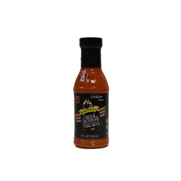 Anchor Bar Medium Buffalo Wing Sauce, 12 Ounce -- 12 per case.