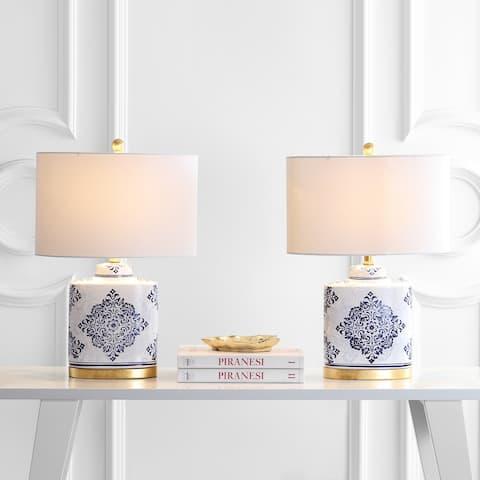 "SAFAVIEH Lighting 24"" Kamdyn LED Table Lamp (Set of 2) - 16""x10""x23.8"""