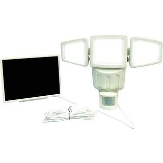KANSTAR 1000 Lumens 182 LED Triple-head Solar Motion Sensor Security Flood Light (White)