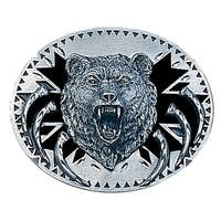 Grizzly Bear Head Belt Buckle