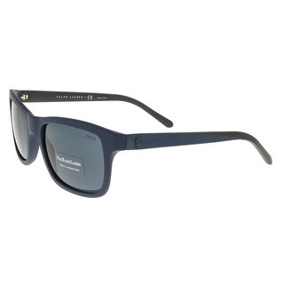 Ralph Lauren PH4095 552887 Matte Blue Rectangle Sunglasses - 57-19-140