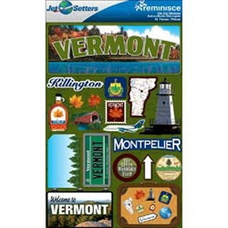 Vermont - Jet Setters Dimensional Stickers