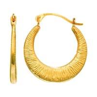 Mcs Jewelry Inc 14 KARAT YELLOW GOLD CHILDREN'S SMALL MESH HOOP EARRINGS