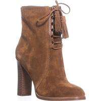 Michael Kors Collection Odile Lace Up Booties, Luggage