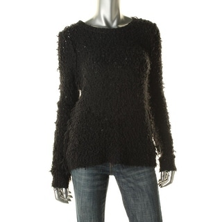 Free People Womens Wool Blend Textured Pullover Sweater