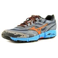 Mizuno Wave Kazan Men Grey/Orange/Blue Running Shoes