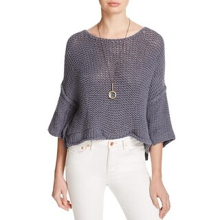 Free People Womens Sweater Knit Boatneck