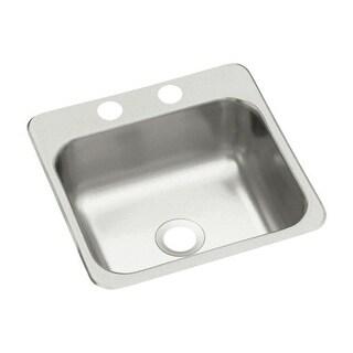 "Sterling B153-2 15"" Single Basin Drop In Stainless Steel Bar Sink with SilentShield"
