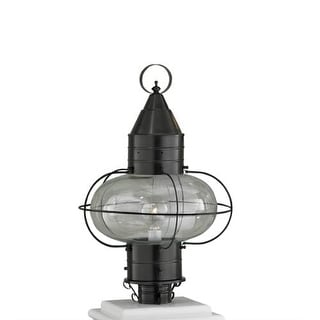 """Norwell Lighting 1511 Classic Onion Single Light 18"""" Tall Outdoor Pier Mount Light with Glass Shade"""