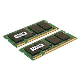 Crucial 4Gb Kit (2Gbx2) Ddr2 667Mhz (Pc2-5300) Cl5 Sodimm 200-Pin Notebook Memory Modules Ct2kit25664ac667 / Ct2cp25664a