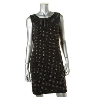 Calvin Klein Womens Petites Studded Sleeveless Cocktail Dress