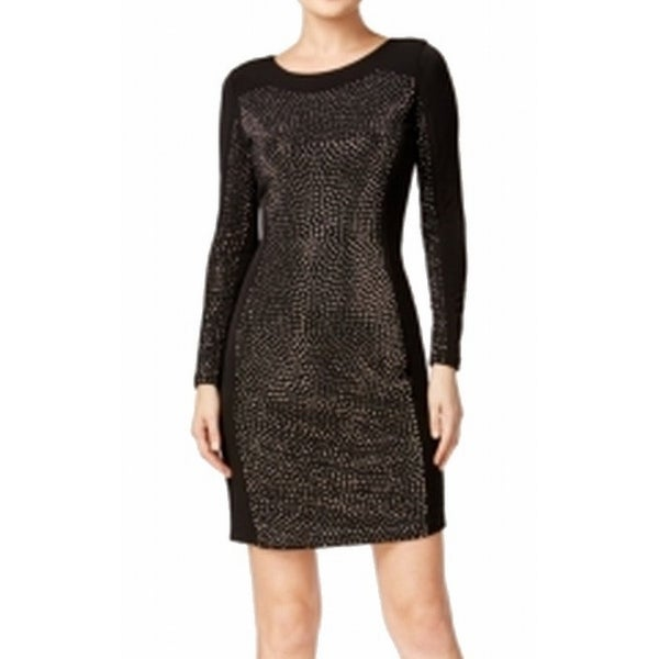 bbeeec1a Shop Calvin Klein NEW Black Women's Size 2 Sheath Studded Bodycon Dress -  Free Shipping On Orders Over $45 - Overstock - 16964497