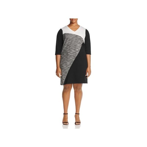Junarose Womens Plus Wear to Work Dress 3/4 Sleeves Knee-Length
