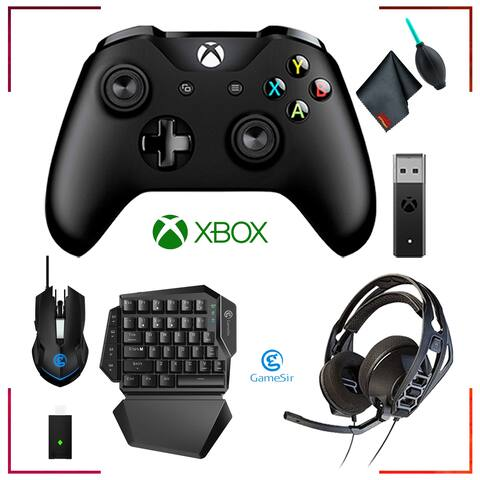 Microsoft Xbox Wireless Controller + GameSir VX Aimswitch Keyboard and Mouse and Accessories