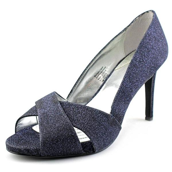 Alfani Loralie Women Open Toe Canvas Blue Sandals