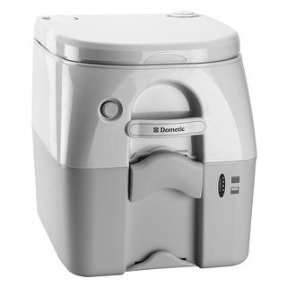 Dometic corporation dometic 975 portable toilet 5.0 gal gray w/ brackets 301097506